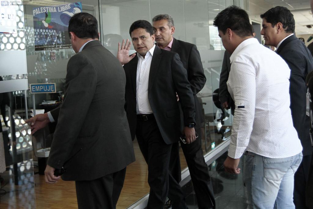 ECUADOR - QUITO - 2015/08/05 -  Rommy Vallejo Secretario de la Senain, acudio a la asamblea nacional.  FOTOS API / JUAN CEVALLOS.