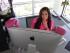 En esta foto del 22 de junio de 2015, la presidenta de Sprout Pharmaceuticals, Cindy Whitehead, trabaja en su oficina en Carolina del Norte. Sprout podría tener éxito donde muchas multinacionales farmacéuticas han fracasado: lograr que se apruebe la primera píldora para estimular del deseo sexual femenino. (AP Foto/Allen G. Breed)