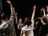SANTIAGO (CHILE), 01/09/2015.- Un grupo de coreógrafos se presenta durante la inauguración hoy, martes 01 de septiembre de 2015, de NAVE, un innovador Centro de creación e investigación artística, en Santiago de Chile. En el nuevo Centro de innovación, los asistentes además de trabajar en diversos proyectos, pueden residir y compartir experiencias artísticas. EFE/Mario Ruiz