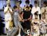 MADRID, 20/09/2015.- La diseñadora María Ke Fisherman (2i) tras la presentación de su colección primavera-verano de 2016, en la tercera jornada de la 62 edición de la Mercedes-Benz Fashion Week Madrid (MBFWM), que se celebra en el recinto ferial Ifema. EFE/Zipi