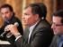 El presidente Rafael Correa (centro) en una reunión. Foto: Carlos Silva/ Presidencia de la República
