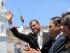 Quito (Pichincha), 14 sep 2015.- El Presidente de la República, Rafael Correa, asistió a la ceremonia de Relevo de Guardia del Grupo Escolta Presidencial, en el Palacio de Carondelet. Foto: Carlos Silva / Presidencia de la República