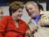 Esta fotografía de archivo muestra a la presidenta brasileña Dilma Rousseff y al expresidente del país Luiz Ignacio Lula da Silva en Sao Paulo, Brasil. (Foto AP/André Penner, archivo)