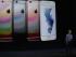 El director ejecutivo de Apple, Tim Cook, habla junto a imágenes del iPhone 6S y 6S Plus el miércoles 9 de septiembre de 2015, en el evento de lanzamiento de Apple, auditorio Bill Graham Civic de San Francisco, California (EEUU). EFE/MONICA DAVEY