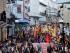 Manifestantes en una marcha de protesta de grupos indígenas contra las medidas del gobierno en Quito, Ecuador, el miércoles 19 de agosto de 2015. (AP Foto/Dolores Ochoa)