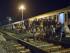 Los migrantes descansan cerca de un tren en la estación en Beli Manastir , cerca de la frontera húngara, al noreste Croacia. (AP Photo/Darko Bandic)