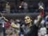 Rafael Nadal de España reacciona ante Borna Coric de Croacia, durante su partido de primera ronda del Abierto de Estados Unidos en las pistas de Flushing Meadows, Nueva York, hoy, lunes 31 de agosto de 2015. EFE/JOHN G. MABANGLO.