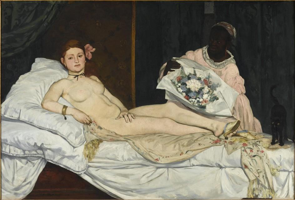 EDOUARD MANET (1832-1883) - OLYMPIA, 1863 La 'Olympia' de Manet, posiblemente pintada con una prostituta como modelo (Paris, Musée d'Orsay © Musée d'Orsay, Dist. RMN-Grand Palais / Patrice Schmidt)