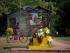 Un niño en bicicleta pasa junto a un cartel del papa Francisco adornando un altar dedicado a la Virgen a las afueras de Taguasco, Cuba, el viernes 18 de septiembre de 2015. Francisco será el tercer pontífice católico que visita Cuba cuando llegue el sábado. En su agenda incluye una misa el martes en el santuario de la Virgen de la Caridad en el este de Cuba . (AP Foto/Eduardo Verdugo)