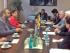La ministra de Ambiente, Lorena Tapia y el secretario de Estado de Alemania, Jochen Flasbarth, en reunión sobre políticas de cambio climático el viernes 11 de septiembre de 2015. Foto: Twitter Ministerio de Ambiente