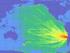 Proyecciones del tsunami generado por el sismo el Chile, el 16 de septiembre de 2015.