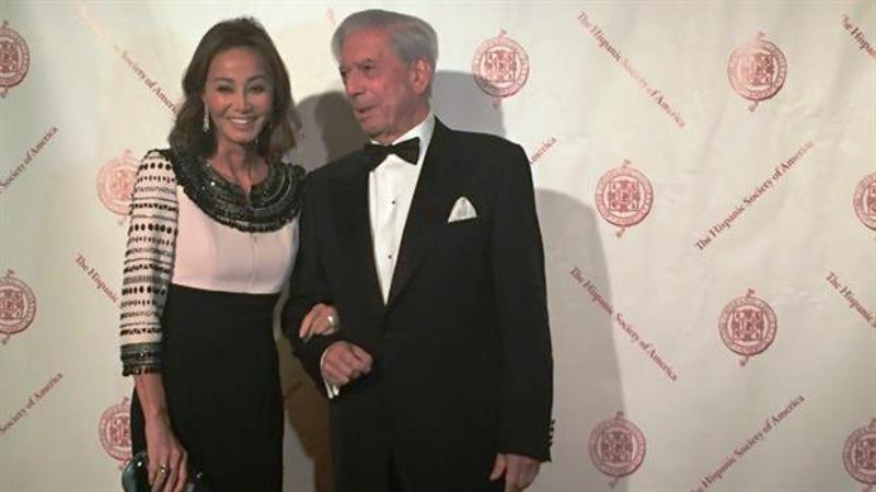 Vargas Llosa e Isabel Preysler en Nueva York