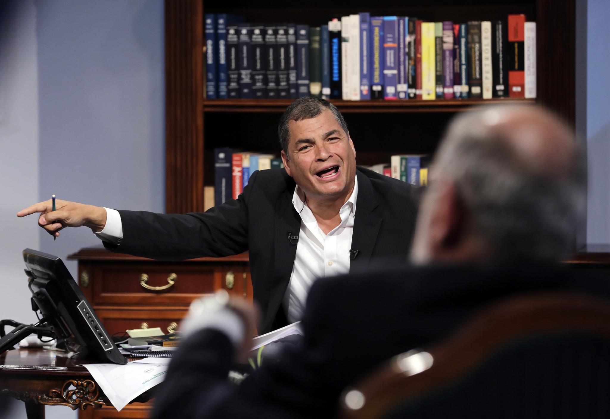 Correa y Dahik. Foto: Mauricio Muñoz / Presidencia de la República