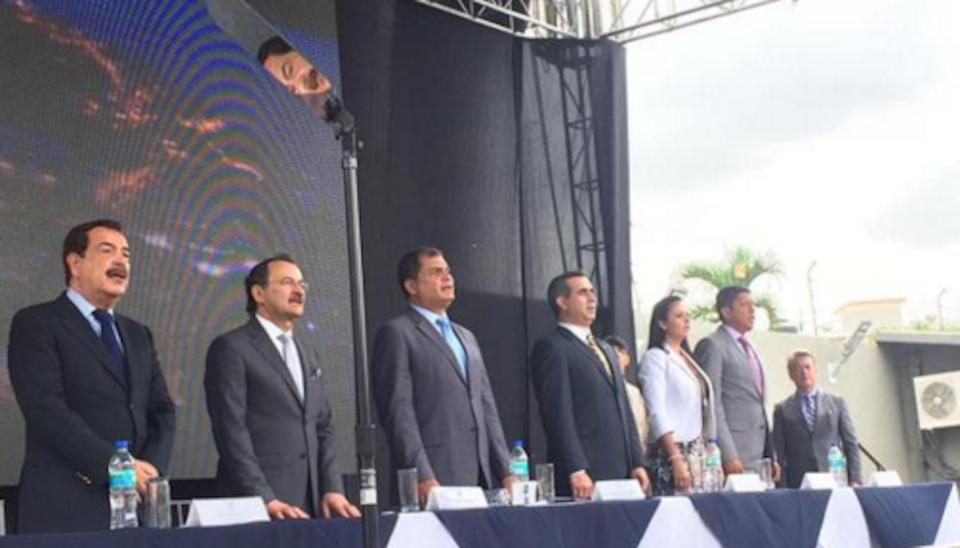 Inauguración del nuevo edificio de la Contraloría, en Guayaquil, el jueves 8 de octubre de 2015. Foto: Presidencia