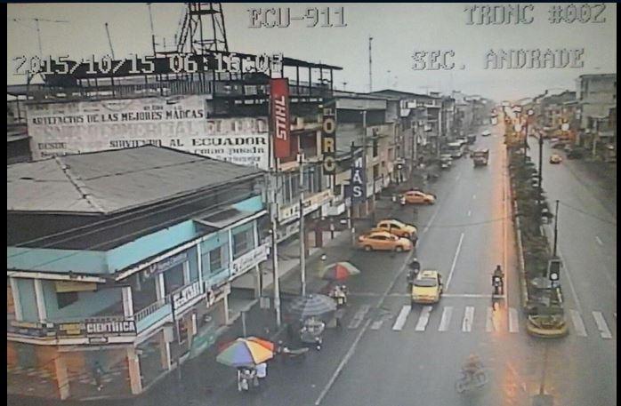 Imágenes de La Troncal, a las seis de la mañana, tras el sismo 5.6, el 15 de octubre de 2015.