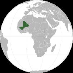 Ubicación de Mali.