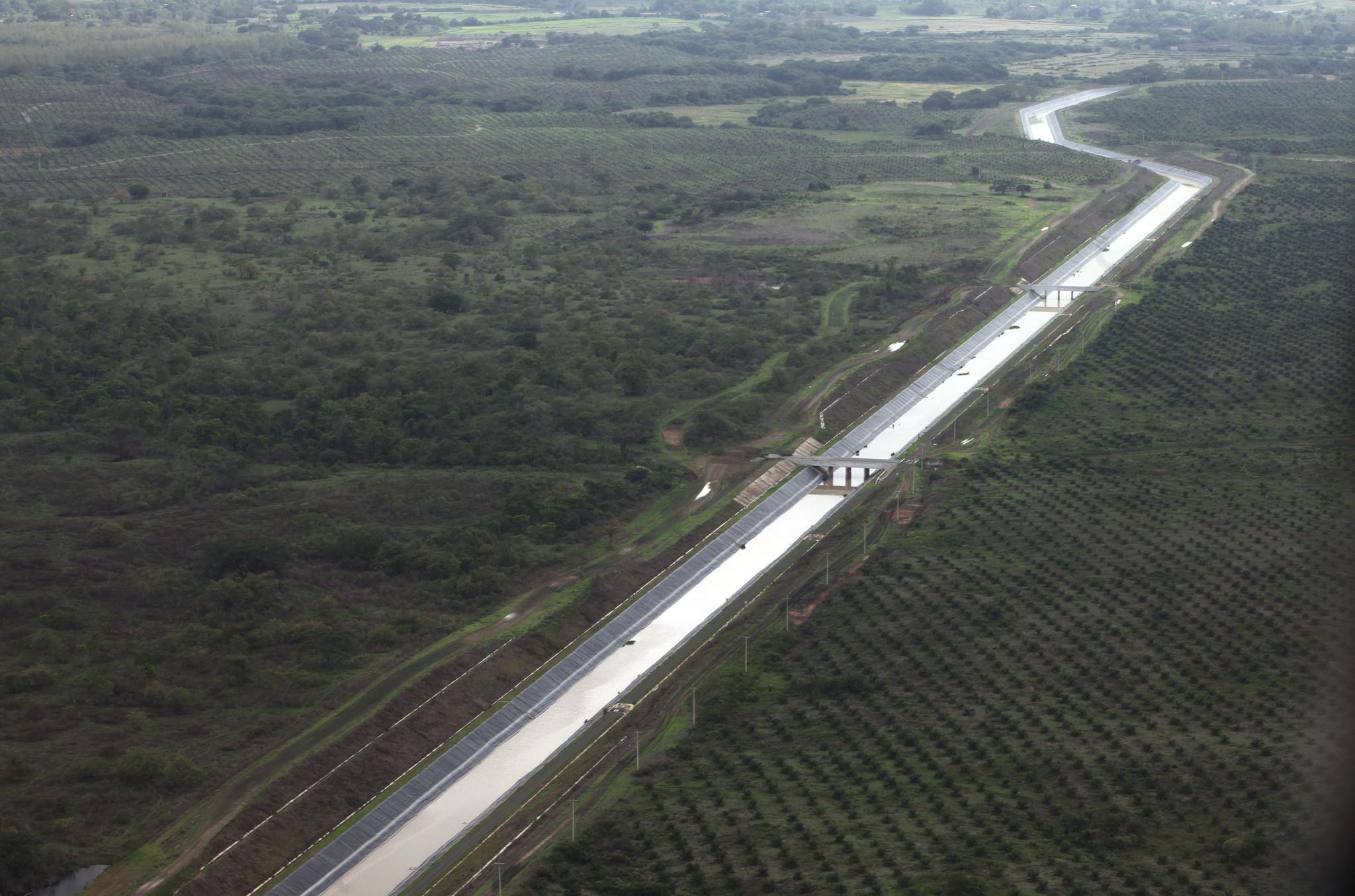 Daule (Guayas), 22 DIC 2015.- Proyecto Trasvase Daule -Vinces Foto: Carlos Silva / Presidencia de la República.