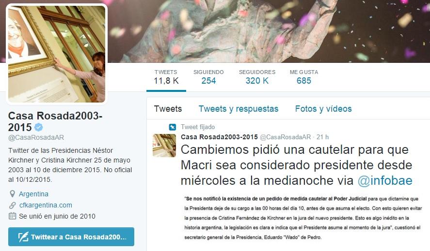 Twitter Casa Rosada