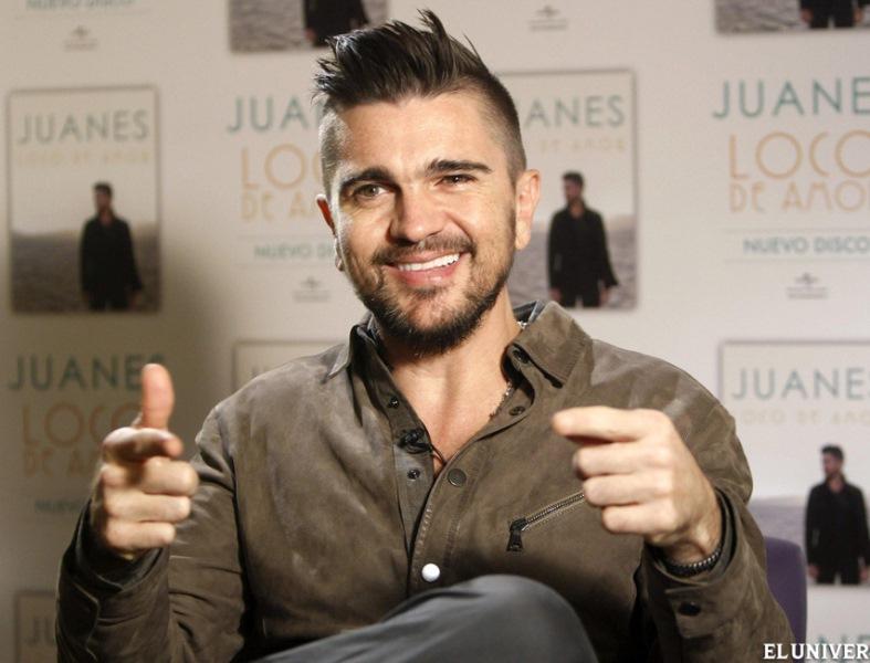 Juanes con nuevo peinado