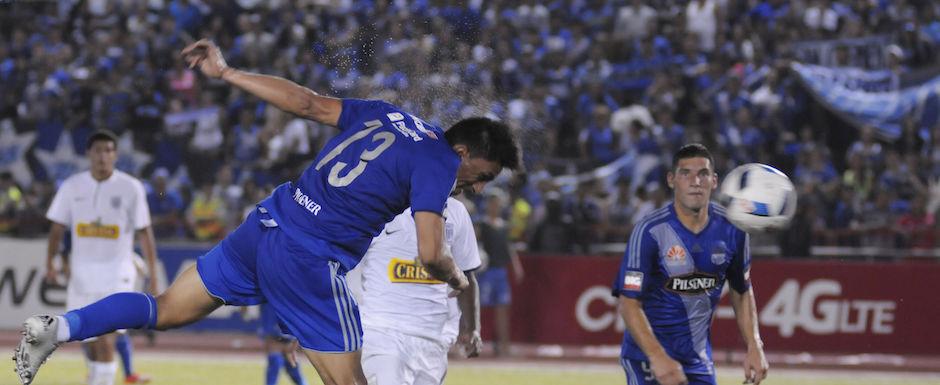 Guayaquil 27 de enero de 2016. Explosión Azul. Emelec vs Alianza Lima. Fotos: Marcos Pin / API