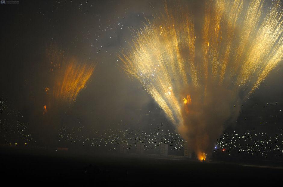 Guayaquil 29 de enero de 2016. Noche Amarilla. Presentación de Barcelona. Fotos: Marcos Pin / API