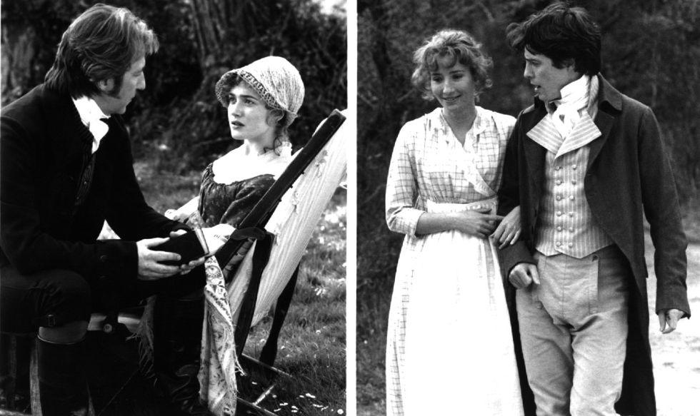 En 1995 el actor británico, a la izquierda, coincidía también con Hugh Grant en 'Sentido y Sensibilidad', una película bajo la dirección de Ang Lee y guion de Emma Thompson (adaptación de la novela homónica de Jane Austen). La película se alzó ese año con el Oscar a mejor guion adaptado y con el Globo de Oro a mejor película. En esta producción coincidieron seis actores que posteriormente formaría parte del reparto de la saga de Harry Potter, Alan Rickman entre ellos.
