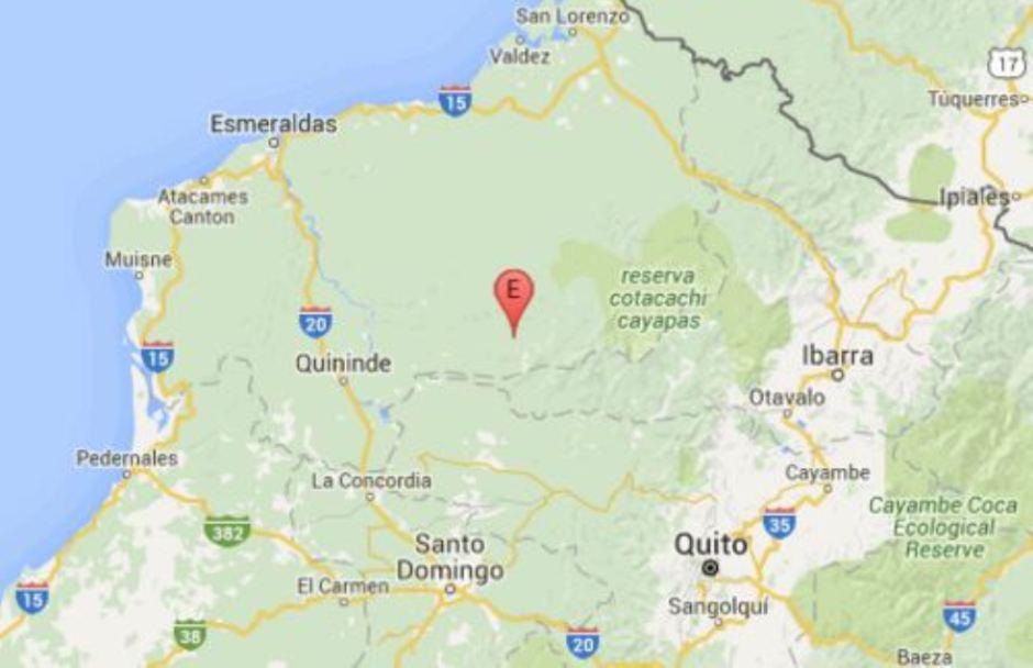 Captura de pantalla del Instituto Geofísico del Ecuador, el 1 de enero de 2015.