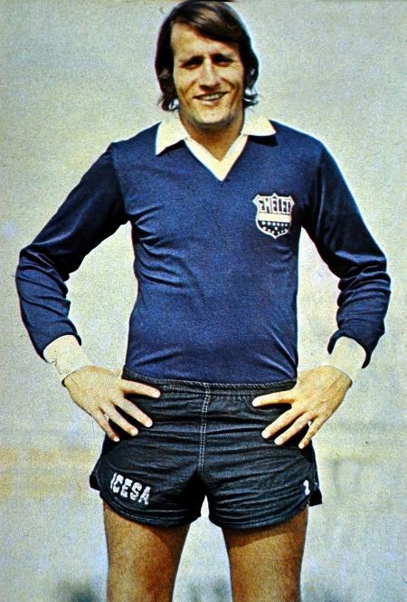 Eduardo García, cuando jugaba en Emelec, en 1972-