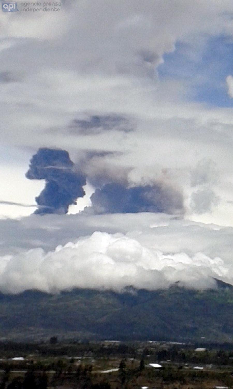 AMBATO 26 DE FEBRERO DE 2016, Actividad en el volcán Tungurahua FOTO API /CARLOS CAMPAÑA