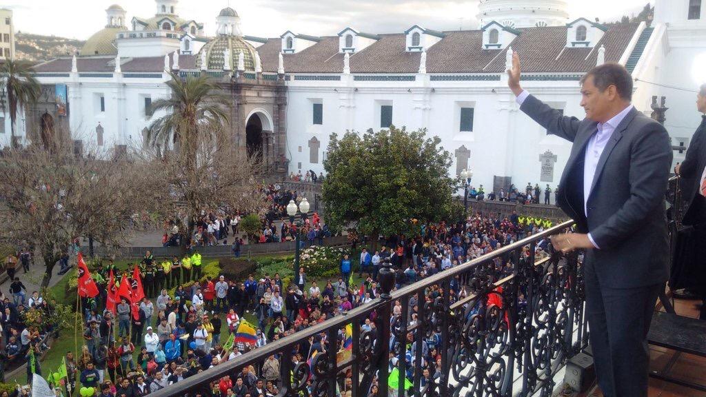 Foto tomada de la cuenta Twitter de la Presidencia de Ecuador.
