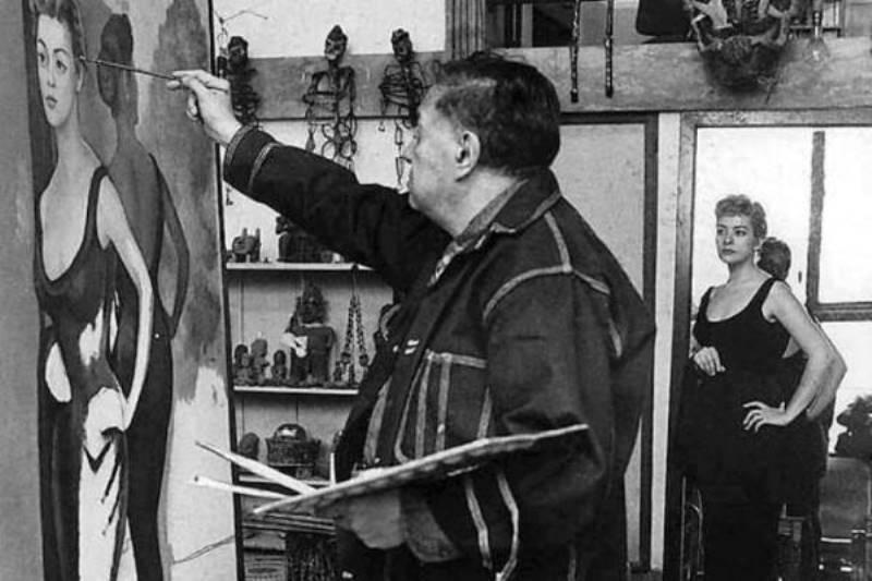 Diego Rivera retrata a Silvia Pinal. Foto: http: 40.media.tumblr.com
