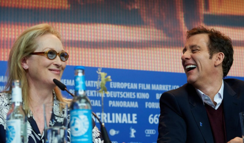 Mery Streep y Clive Owen en la Berlinale. Foto: thebritishberliner.files.wordpress.com