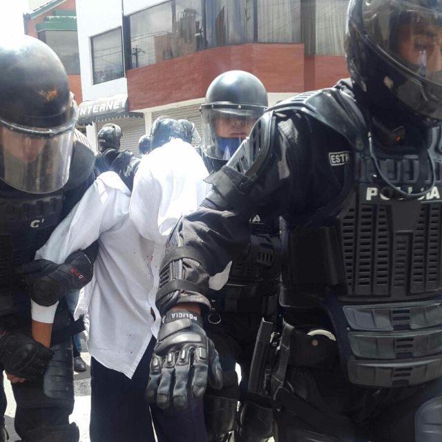 Inmediaciones del Colegio Montúfar, en Quito, la mañana del 15 de febrero de 2016.