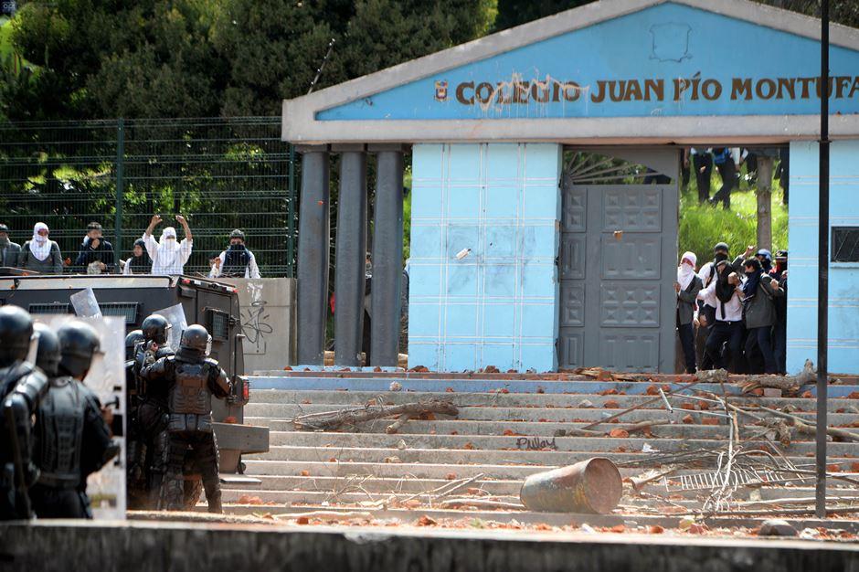 Inmediaciones del colegio Montúfar, en Quito, el 15 de febrero de 2016. API