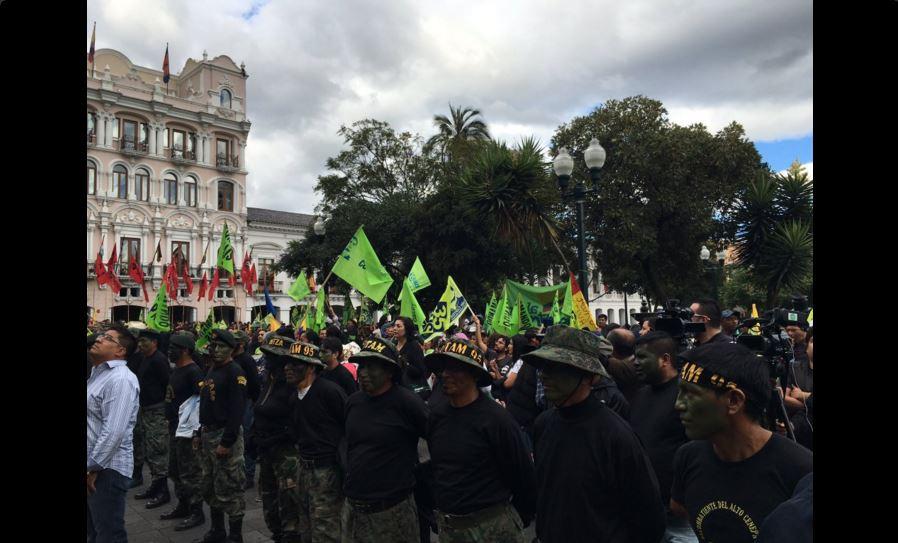 La Plaza Grande, en Quito, la tarde del 10 de febrero de 2016. Foto tuiteada por la asambleísta Sol Buendía.