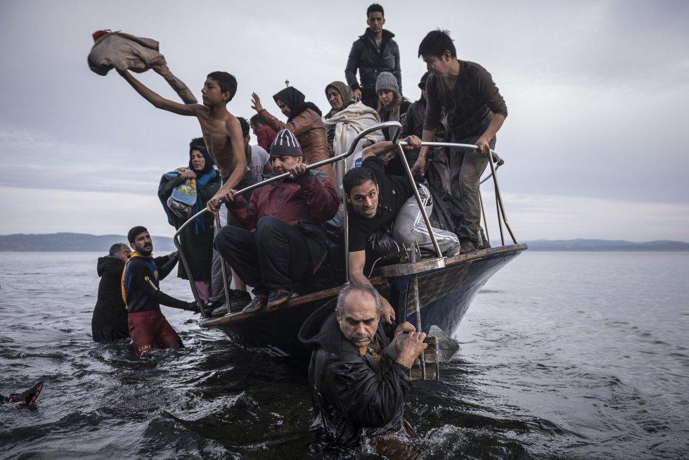 Otra imagen de Sergey Ponomarev de su serie sobre los refugiados que se ha llevado uno de los primeros premios. SERGEY PONOMAREV (AP)
