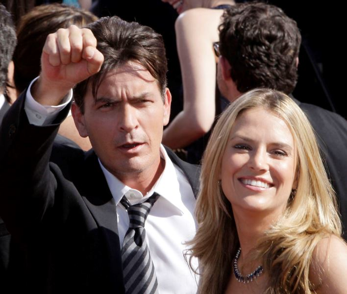 Charlie Sheen y Brooke Mueller. Foto: juancarlosnajera.com