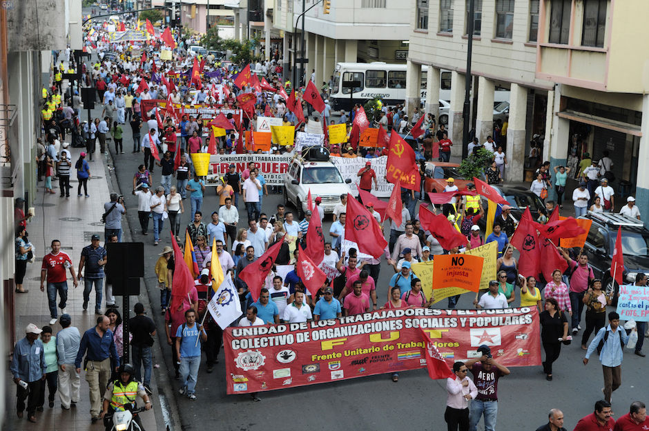 Marcha en Guayaquil, el 17bde marzo de 2016. API/Marcos Pin