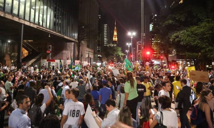 Sao Paulo, la noche del 16 de marzo de 2016.Foto del diario O Globo.