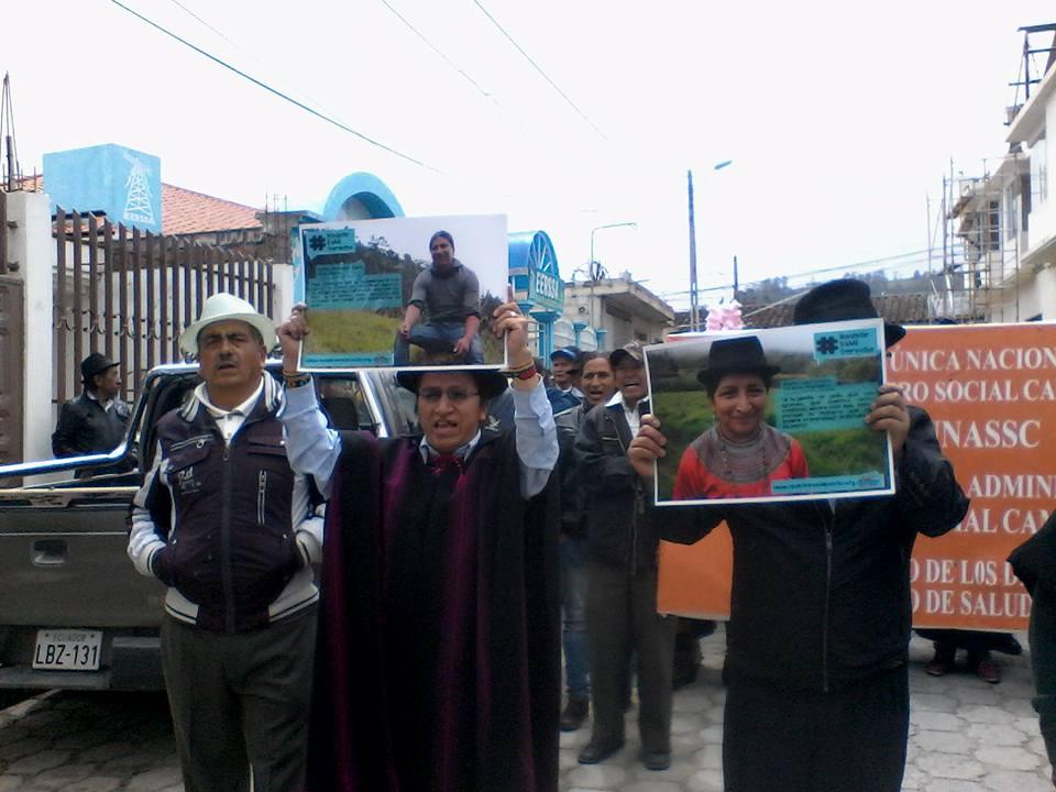 Marchas en Saraguro