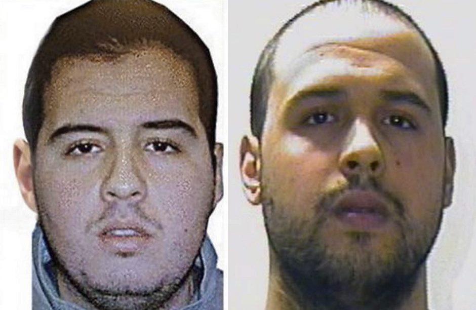 Combo de imágenes facilitadas hoy 23 de marzo de 2016 por la Interpol que muestran los rostros de Jalid El Bakrau (d) y Brahim El Bakraui (i). EFE/-