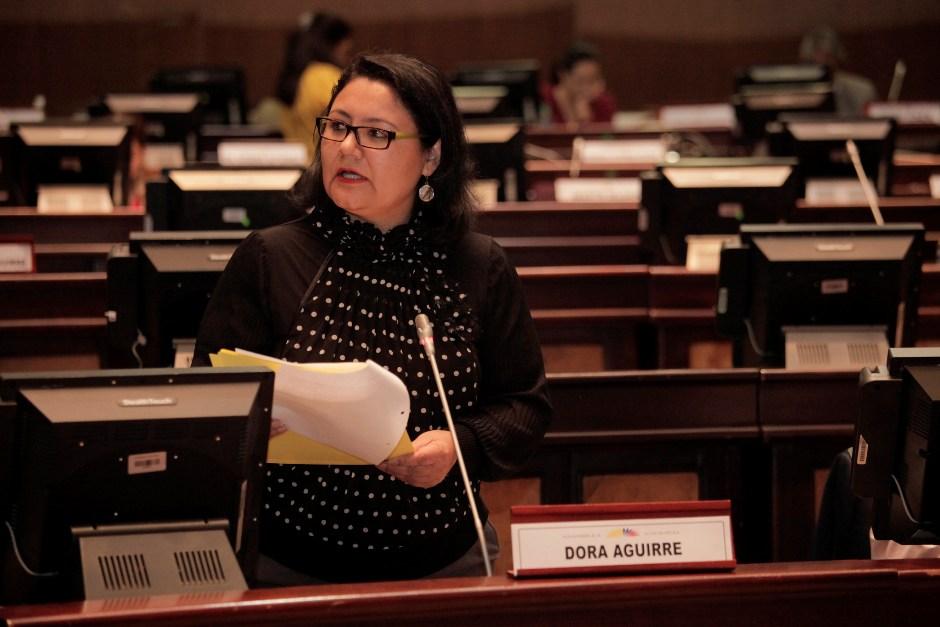Asambleísta Dora Aguirre, el 31 de marzo de 2016. Foto de la Asamblea Nacional.