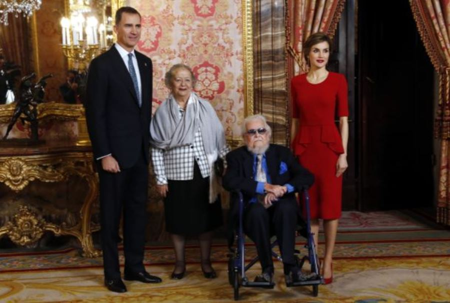 Los reyes de España y Fernando del Paso, Foto: casareal.es