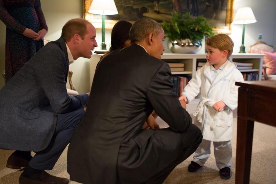 Obama conoce al príncipe George. Foto: c.o0bg.com