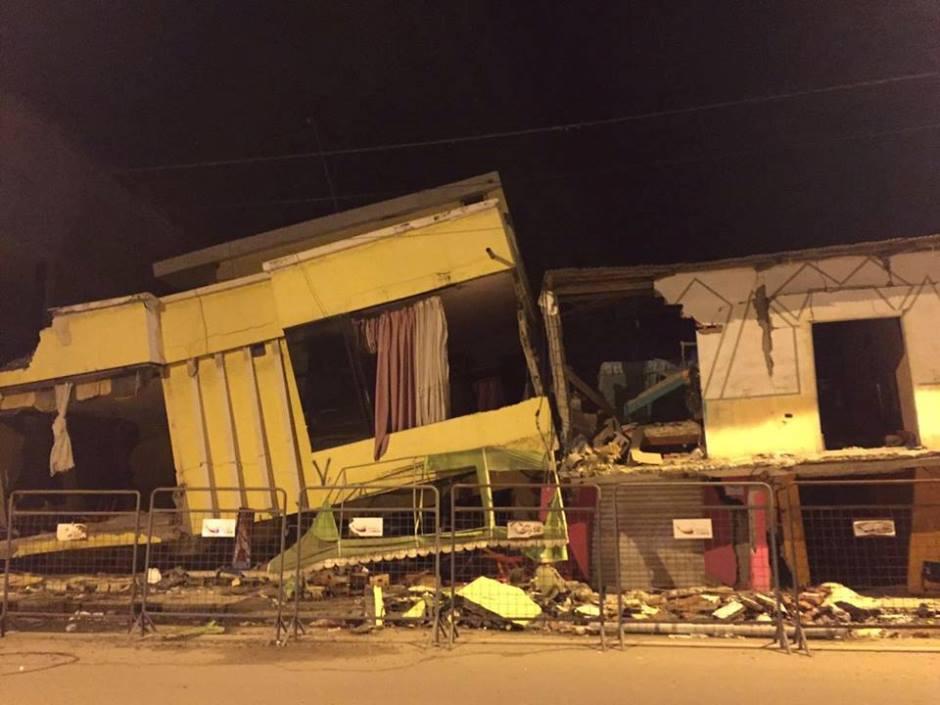 Destrucción en la provincia de Esmeraldas