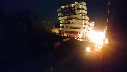 Portoviejo, tras el terremoto 7.8, la noche del 16 de abril de 2016.
