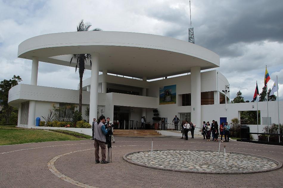 La sede de la Senain, en Lumbisí, antigua propiedad de la familia Isaías.
