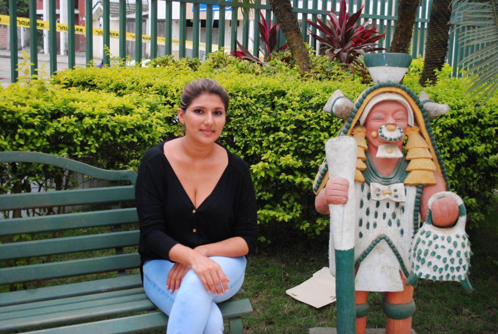 Raquel Farías, directora del Museo de Jama. Fotos de Nicolás Ontaneda, para La República.