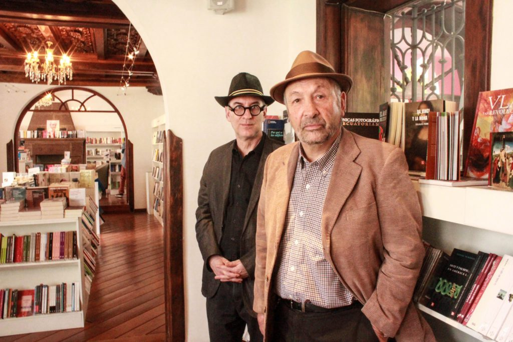 Christopher Domínguez y Javier Vásconez. Foto del Fondo de Cultura Económica.