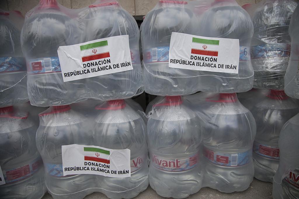 Quito (Ecuador), 03 de mayo de 2016. La República Islámica de Irán entrega ayuda humanitaria para las personas damnificadas de la costa. Foto: Luis Astudillo C. /Cancillería